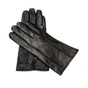 Dámské černé kožené rukavice <br>Pride & Dignity Dublin, vel. 8,5