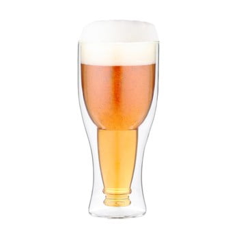 Pahar pentru bere cu perete dublu Vialli Design 350 ml