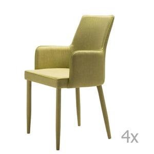 Set 4 scaune 13Casa Karl, verde