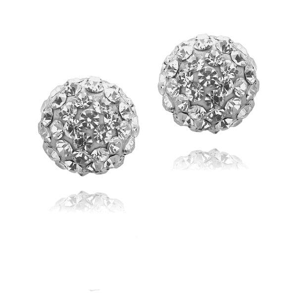 Rub ezüstszínű fülbevaló Swarovski kristályokkal - Saint Francis Crystals