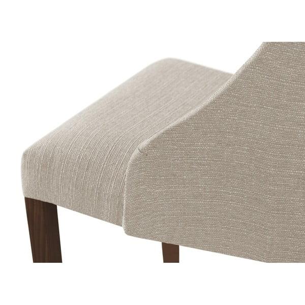 Scaun din lemn de fag cu picioare maro închis Ted Lapidus Maison Absolu, crem - alb