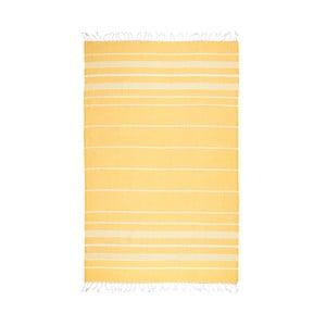 Žlutá hammam osuška Kate Louise Classic, 180x100cm