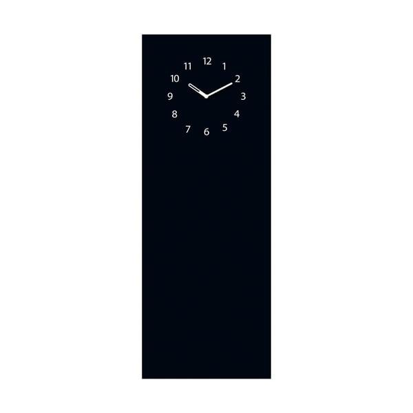 Magnetická tabule s hodinami Eurographics Black Clock, 30x80cm