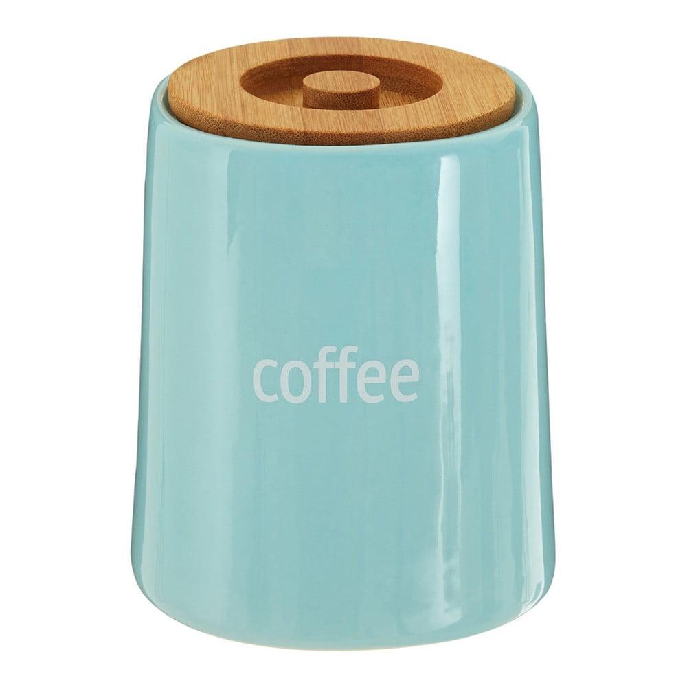 Modrá dóza na kávu s bambusovým víkem Premier Housewares Fletcher