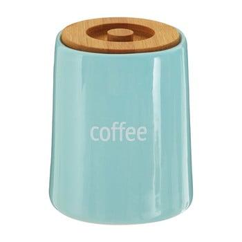 Recipient pentru cafea cu capac din lemn de bambus Premier Housewares Fletcher, 800 ml, albastru de la Premier Housewares