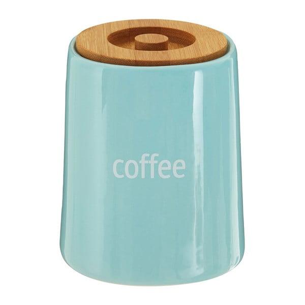 Fletcher kék kávésdoboz bambusz fedéllel, 800 ml - Premier Housewares