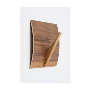Nástěnný věšák z masivního dřeva Woodman Rack Naki Walnut