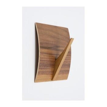 Cuier de perete din lemn masiv Woodman Rack Naki Walnut de la Woodman