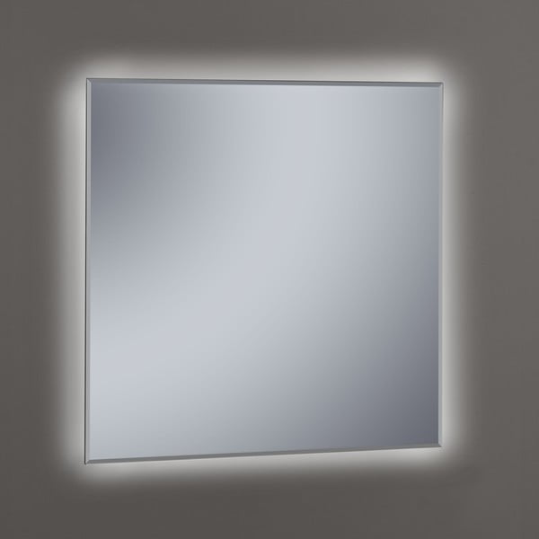 Zrcadlo s LED osvětlením Lateral, 80x80 cm