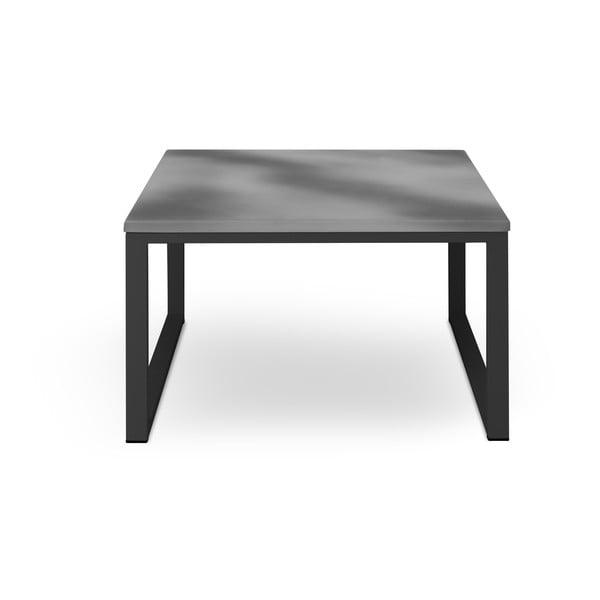 Šedý venkovní stůl v betonovém dekoru a černém rámu Calme Jardin Nicea, délka 70 cm