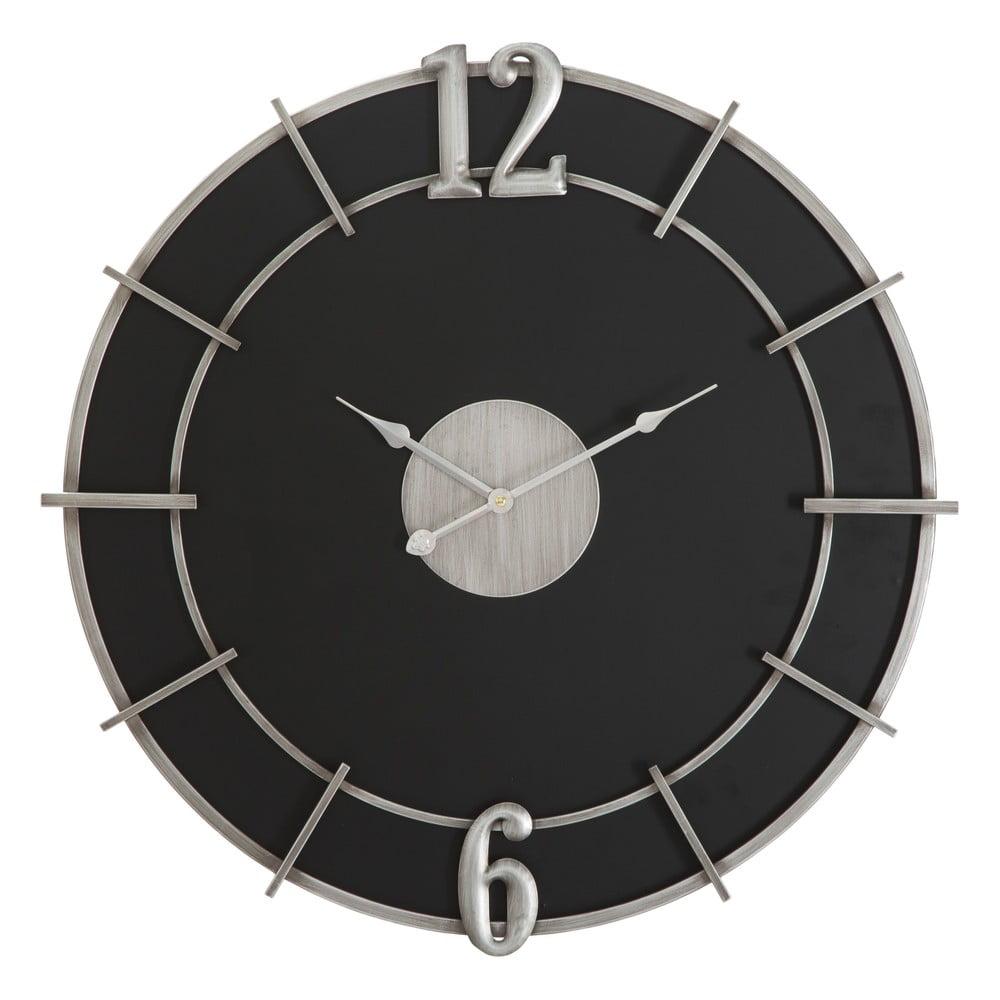 Černé nástěnné hodiny Mauro Ferretti Glam, ø60cm