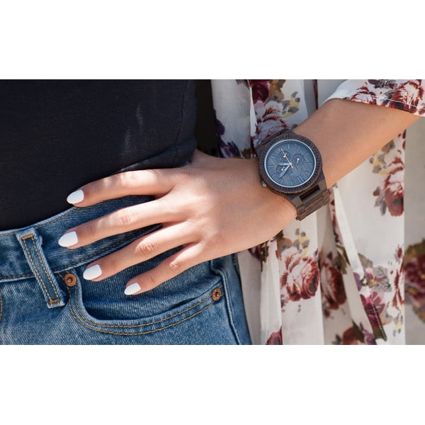 Dřevěné hodinky Kappa Black