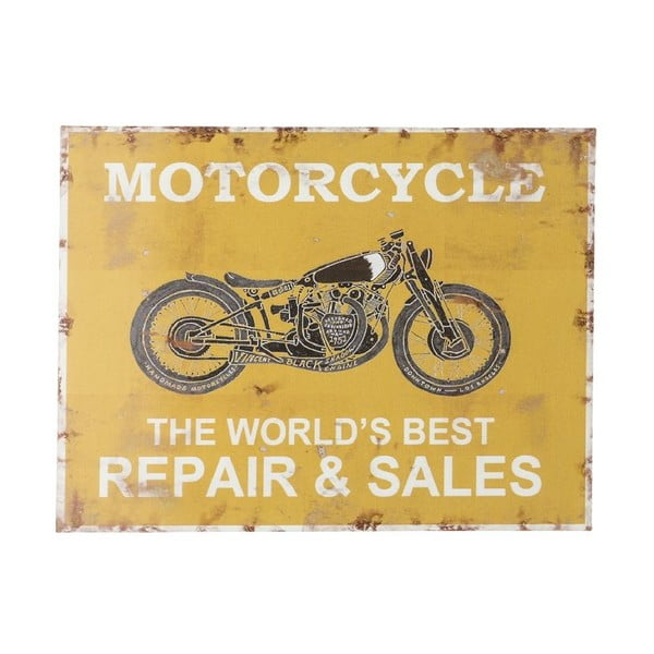 Cedule na stěnu Novita Yellow Motorcycle