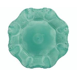 Sada 6 modrozelených dekorativních talířů Villa d'Este Hippy Tiffany, ⌀34,5cm