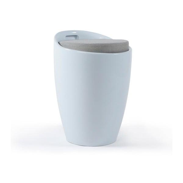 Biały stołek ze schowkiem Kokoon Ese