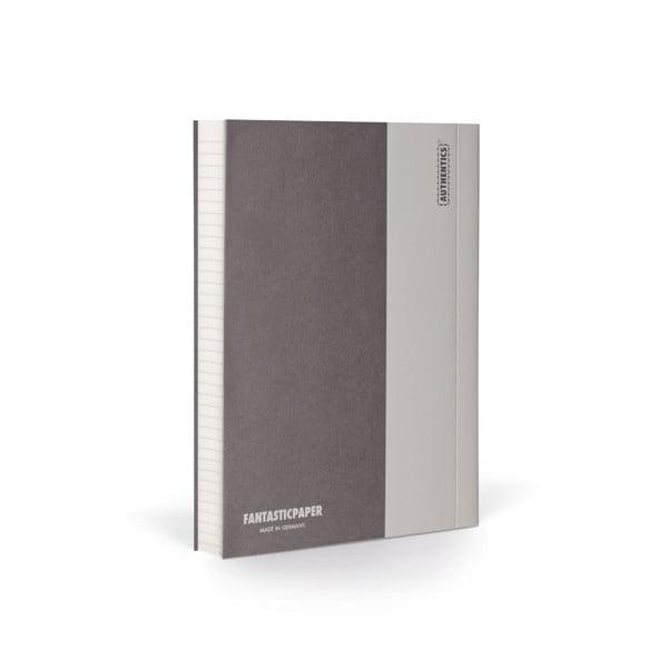 Zápisník FANTASTICPAPER A6 Stone/Warm Grey, řádkovaný