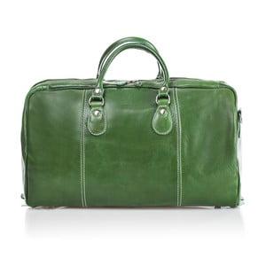 Zelená kožená cestovní taška Medici of Florence Enrico