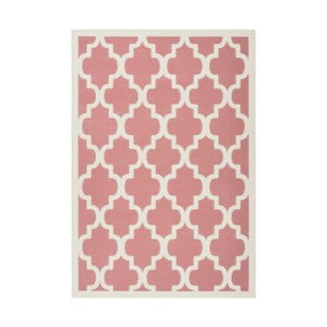 Růžový koberec Kayoom Maroc Criss, 80 x 150 cm