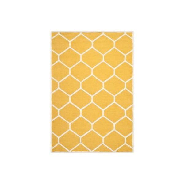 Żółty dywan wełniany Safavieh Lulu, 243x152 cm