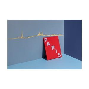 Pozlacená nástěnná dekorace se siluetou města The Line Paris