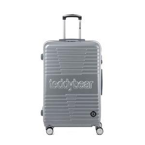 Cestovní kufr ve stříbrné barvě na kolečkách Teddy Bear Paige, 107 l