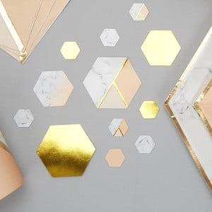 Sada 100 stolních dekorací Neviti Gold Colour Block Marble