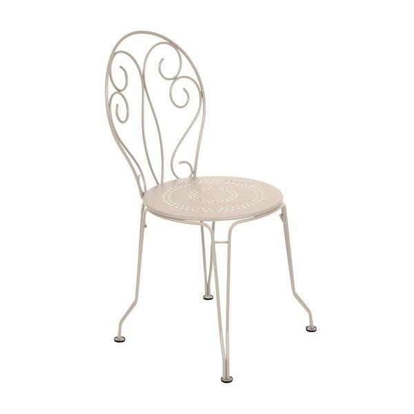 Krémová kovová židle Fermob Montmartre