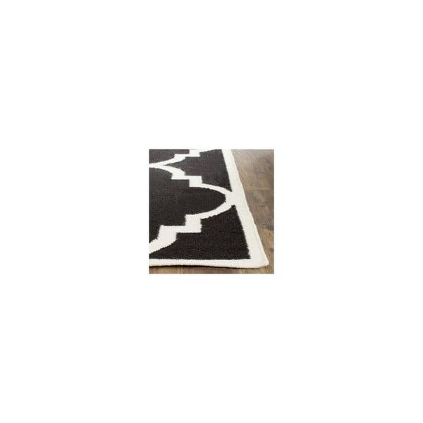 Vlněný koberec Alameda 121x182 cm, černý