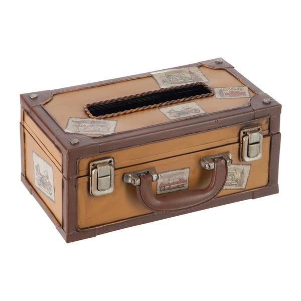 Box na kapesníky Suitcase Cappuccino