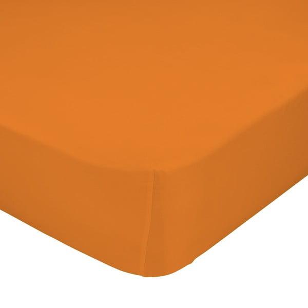 Oranžové elastické prostěradlo Happynois, 70x140 cm