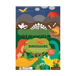 Skládací deska se znovupoužitelnými samolepkami Petit collage Dinosaurus