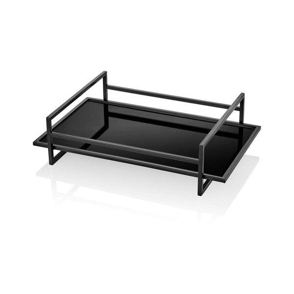 Čierny dekoratívny podnos The Mia, 50 x 30 cm