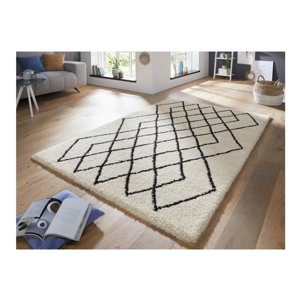 Krémovo-černý koberec Mint Rugs Allure, 200 x 290 cm