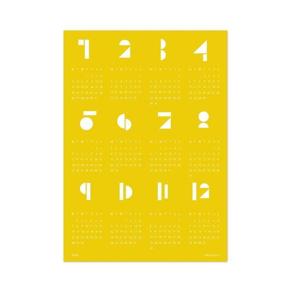 Nástěnný kalendář SNUG.Toy 2016, žlutý