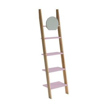 Etajeră cu suport din lemn și oglindă Ragaba Ashme Ladder, roz deschis imagine