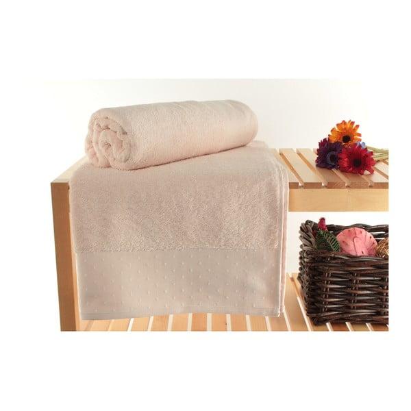Sada 2 púdrovoružových osušiek zo 100% bavlny Patricik, 90×150cm