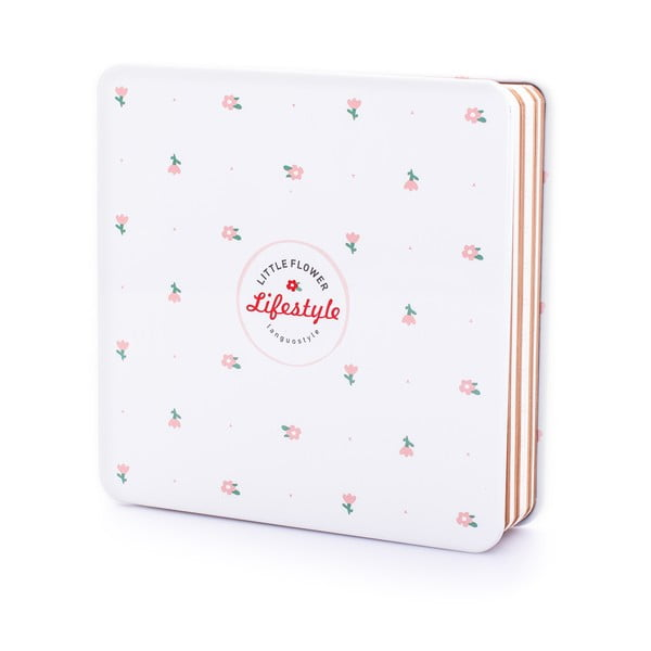 Plechový zápisník Lifestyle, bílý