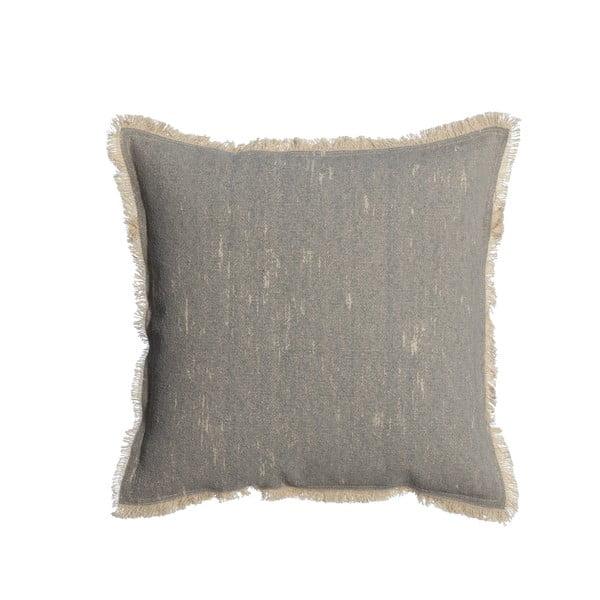 Šedý polštář Denzzo Boho, 45x45cm