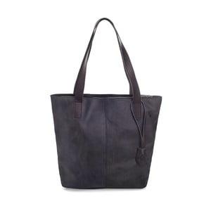 Černá kožená kabelka Woox Trogia Purpurea