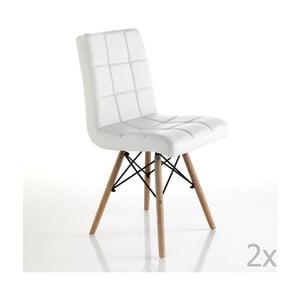 Sada 2 bílých jídelních židlí Tomasucci Kimi
