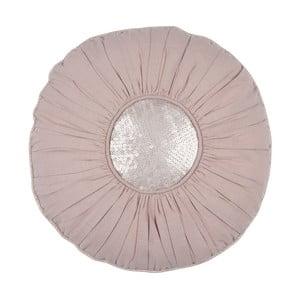 Růžový polštář Walra Mette, ⌀ 40 cm