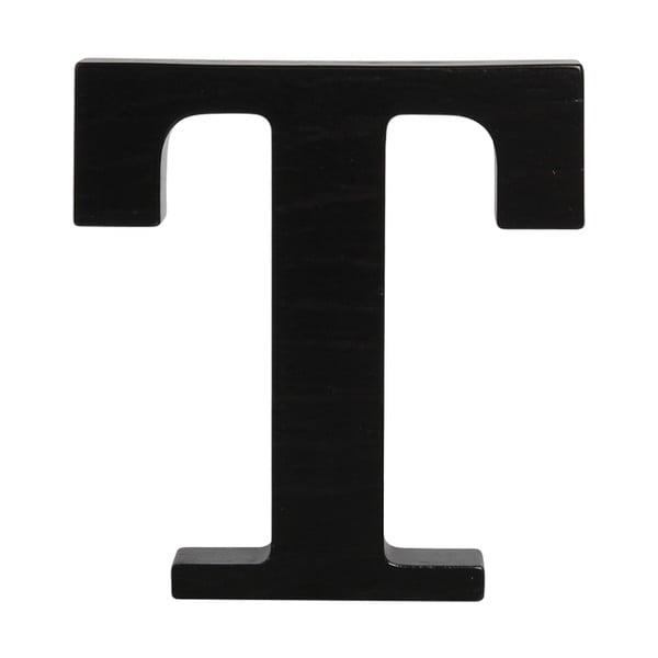 Černé dřevěné písmeno Typoland T