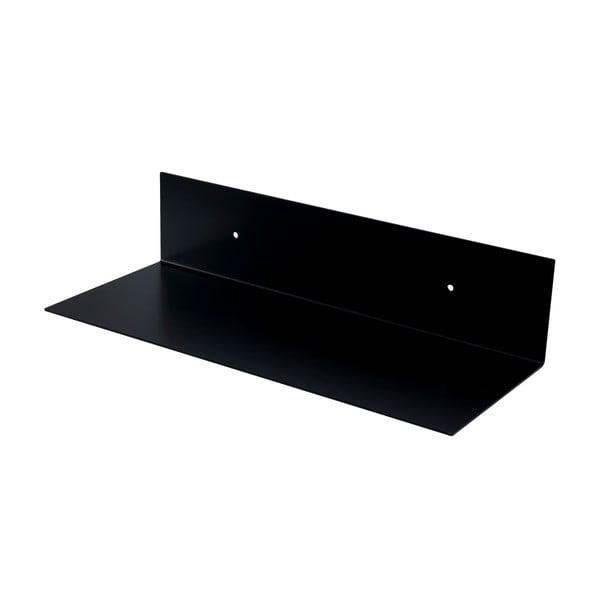 Nástěnná kovová police Gie El 23x10 cm, černá