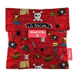 Kapsa na svačinu Snack'n'Go Pirates, červená
