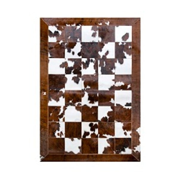 Hnědo-bílý koberec z pravé kůže Pipsa Normand Cow, 140x200 cm