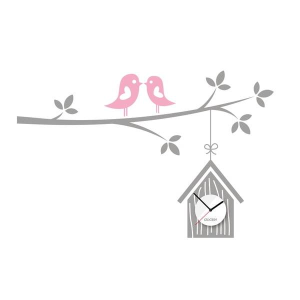 Hodiny se samolepkou Birdhouse
