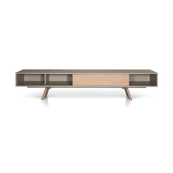 Televizní stolek E-klipse AL2, 225cm, béžový/dub