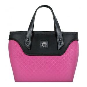 Kufříková kabelka Flowerbag, růžovo-černá