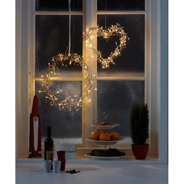 Svítící dekorace Bonny Silver, 60 cm