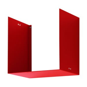 Nástěnná police Geometric One, červená